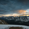 Sunset at 13,000 ft