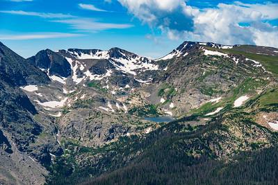 Alpine Peaks and Lake