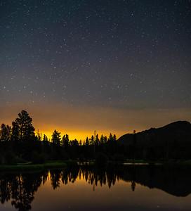 Sprague Lake at Night
