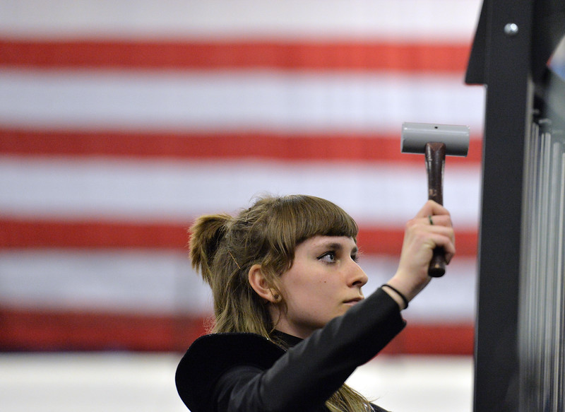 "BEST 2) Alexis Morris plays the chimes during the Longmont High Percussion team performance during the Rocky Mountain Percussion Association's contest #4 at Longmont High School on Saturday.<br /> <br /> More photos:  <a href=""http://www.BoCoPreps.com"">http://www.BoCoPreps.com</a><br /> David R. Jennings/Staff Photographer<br /> March 26, 2016"
