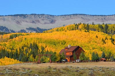 Mountain home backed by the aspen forest and Storm Ridge