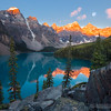 Sunrise, Moonset - Moraine Lake, Alberta