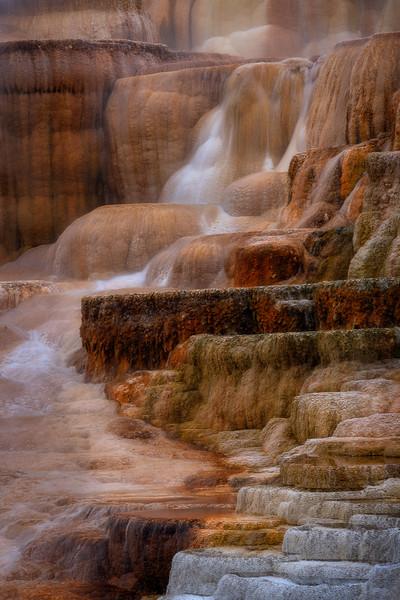 Mammoth Hot Springs Waterfall Terrace