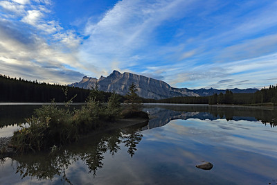 Rundle from Two Jack Lake