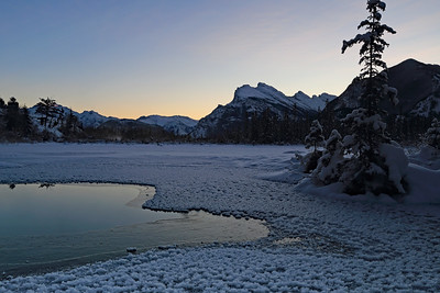 Frosty Morning At Vermillion Lakes