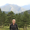 Anne at the Beaver Meadows Visitor Center