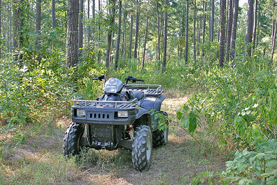 "My Transportation around the Ranch here. ""Polaris 700 4X4 ATV"""
