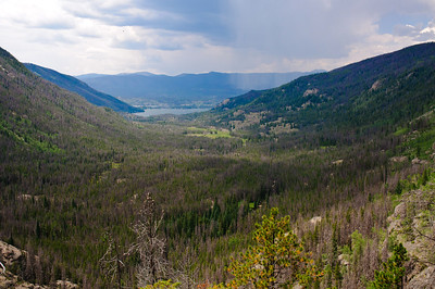 A view from the bluff looking back toward Grand Lake.