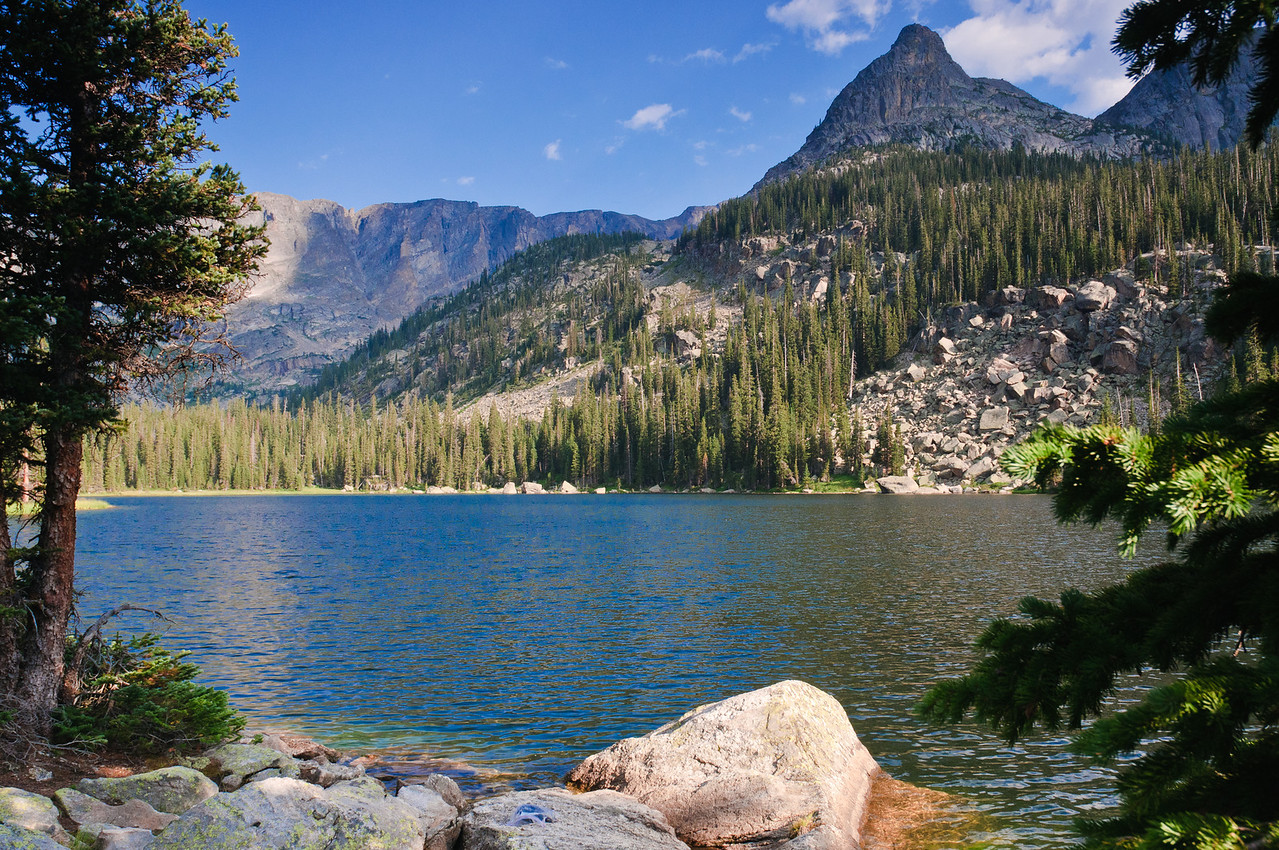 Remote Spirit Lake offers a perfect place to a backcountry dinner.