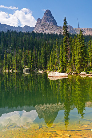 Lofty peaks reflect on the still waters of Spirit Lake
