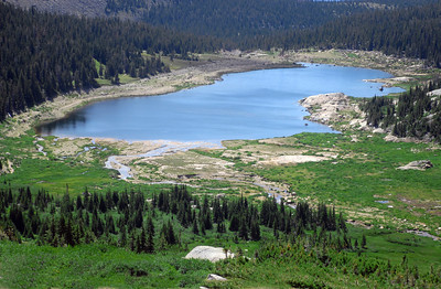 Lawn Lake stands in an alpine valley nearly 11,000 feet above sea level.