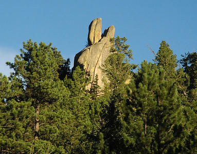 Along the Cow Creek Trail stands the rock formation known as Rabbit Ears.