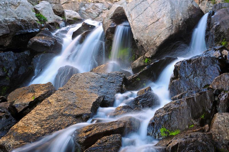A small cascade below Bluebird Lake.