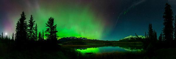 Northern Lights over Talbot Lake