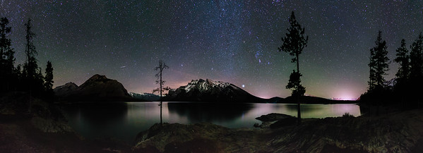 Lake Miniwanka Banff Alberta.