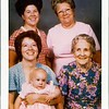 Taken in Heber City, Utah<br />  June 11,1975  Mother-83, Lavon-63, Maxine-43, Zelpha-23, Caryn-9 mths