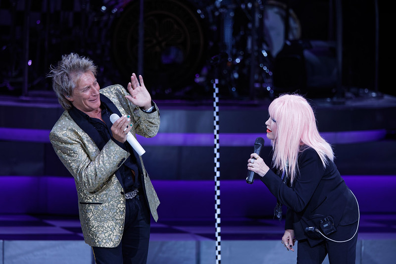 Rod Stewart live at DTE Music Theatre  on 8-1-2017.  Photo credit: Ken Settle