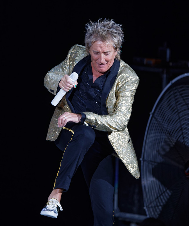 . Rod Stewart live at DTE Music Theatre  on 8-1-2017.  Photo credit: Ken Settle