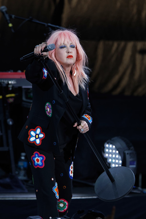 . Cyndi Lauper live at DTE Music Theatre  on 8-1-2017.  Photo credit: Ken Settle
