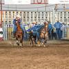 101WildWestPRCA Sat SteerWrestling-9
