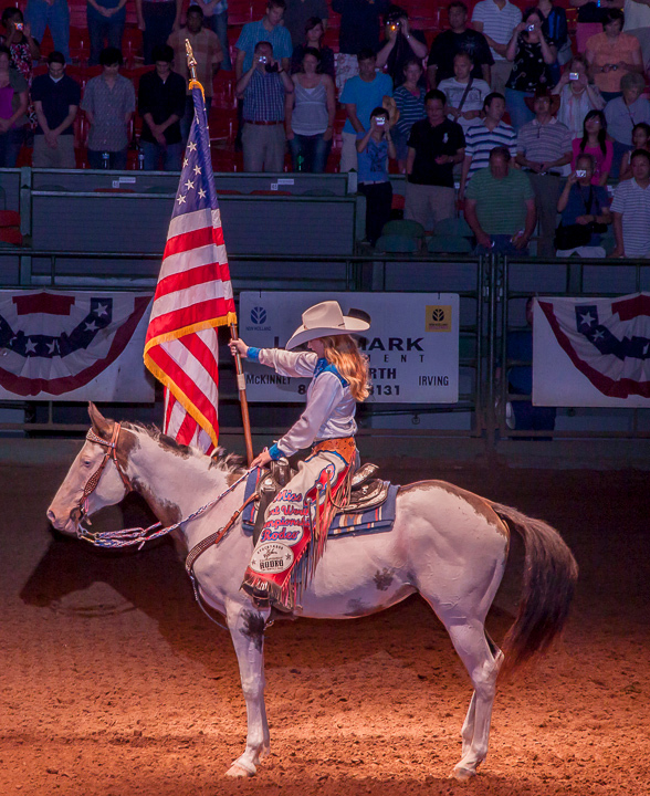 Shot at the Fort Worth Coliseum this represents the true sprit of Texas- God and County are number 1.