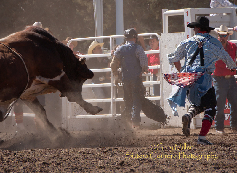 Incoming! - Sisters Rodeo 2010 - Gary Miller - Sisters Country Photography