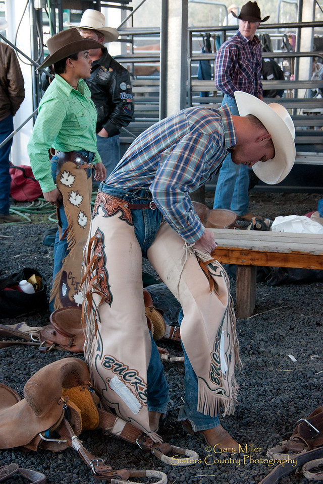 Kaila Mussell, bronc rider from Chiliwack, BC, returned to Sisters for the 70th Sisters Rodeo seven years after her 2003 competition. Sisters Country Photography