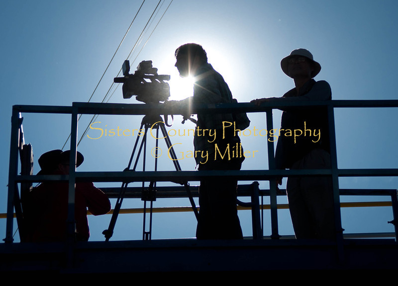 A Korean film crew photographs the Sisters Rodeo in 2011 - Photo by Gary Miller - Sisters Country Photography
