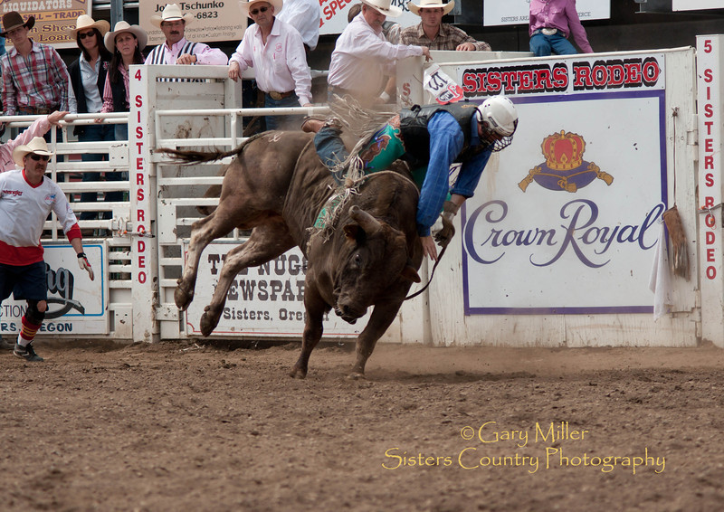 Bull Riding at the Sisters Rodeo 2011 - Photo by Gary Miller - Sisters Country Photography