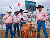 World Champion Bobby Mote is presented a custom saddle and belt buckle as he was awarded the title of Best All-Around Cowboy at the 2011 Sisters Rodeo, Sisters Oregon. From left to right SRA President G. J. Miller, Board Member Keith Sweeney, Bobby Mote and VP Curt Kallburg - Photographer Gary Miller - Sisters Country Photography