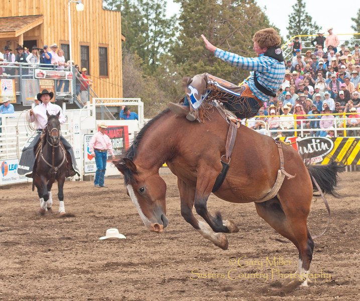 Bareback rider - 2011 Sisters Rodeo, Sisters Oregon - Photographer Gary Miller - Sisters Country Photography