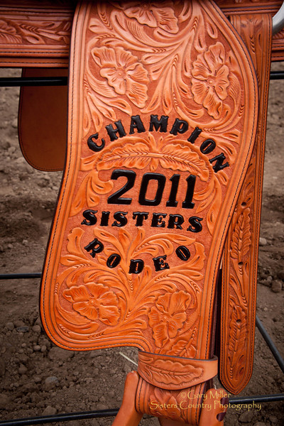 Saddle awarded to Bobby Mote as the Best All-Around Cowboy at the 2011 Sisters Rodeo, Sisters Oregon - Photographer Gary Miller - Sisters Country Photography