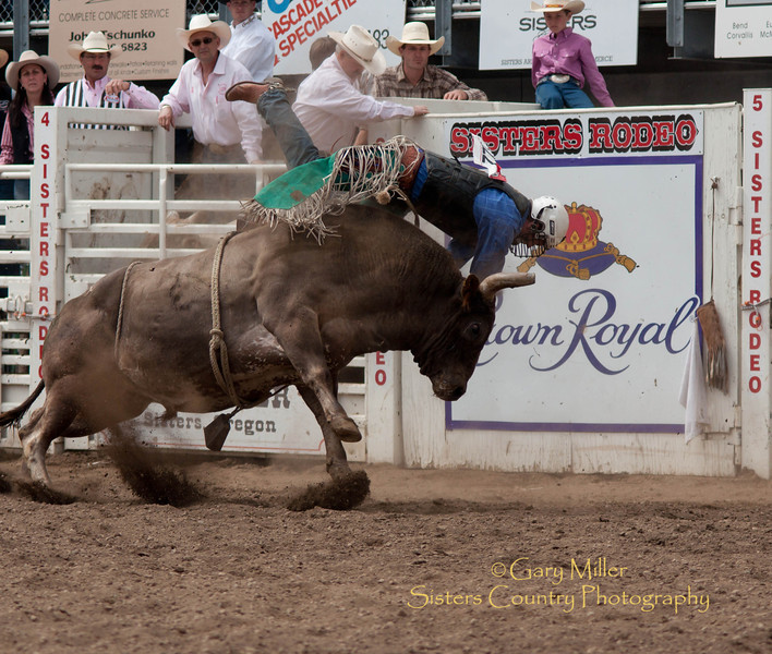 Headin' for the Crown! - Bull Riding at the Sisters Rodeo 2011 - Photo by Gary Miller - Sisters Country Photography