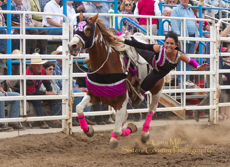 The Sure Shot Riders Specialty Act from Canada entertains the crowd at the 2011 Sisters Rodeo, Sisters Oregon - Photographer Gary Miller - Sisters Country Photography