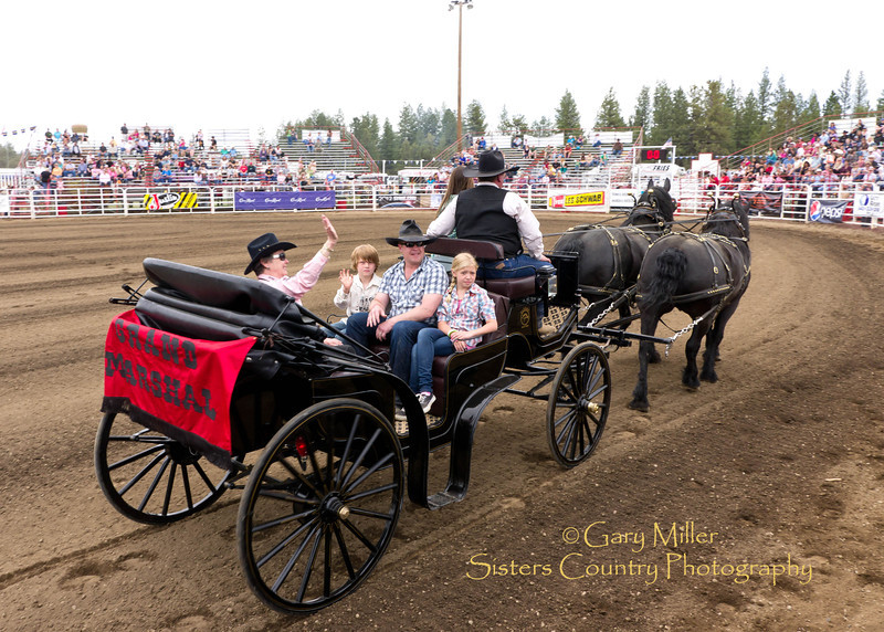 Grand Marshall Cathy Williams & Family - 2011 Sisters Rodeo, Sisters Oregon - Photographer Gary Miller - Sisters Country Photography