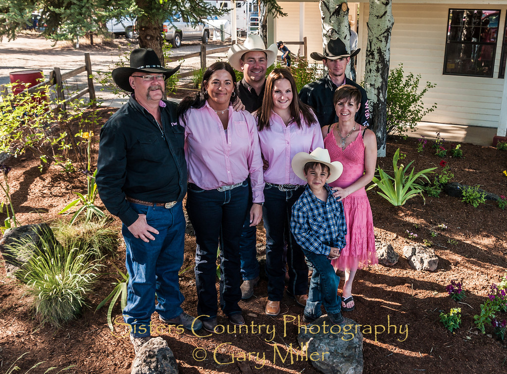 The Kempton family - Sunday, a picture perfect day at the 2012 Sisters Rodeo -Sisters, Oregon - Gary N. Miller - Sisters Country Photography