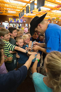 J.J. Harrison shares his magical humor and wisdom with the children Sisters during an assemby at the Sisters Elementary School on Friday the 2013 Sisters Rodeo - Sisters, Oregon - Copyright © 2013 Gary N. Miller, Sisters Country Photography