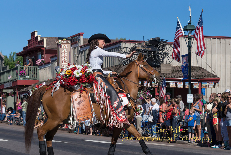 Sisters Rodeo Queen Whitney Richey - 2013 Sisters Rodeo Parade - Sisters, Oregon - Copyright © 2013 Gary N. Miller, Sisters Country Photography