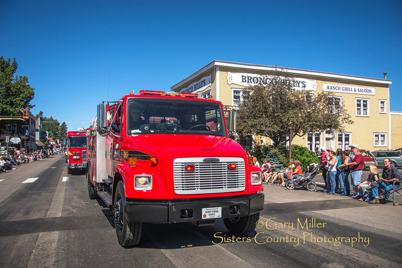 Fire Trucks at the 2013 Sisters Rodeo Parade - Sisters, Oregon - Copyright © 2013 Gary N. Miller, Sisters Country Photography