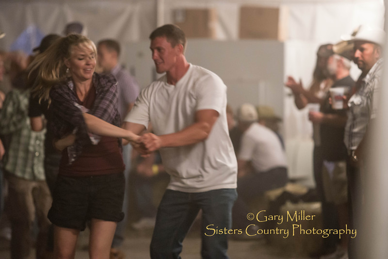 Westen swing dancing to a great band on the Sisters Rodeo Grounds after the Wednesday night Extreme Bull's Competition at the 2013 Sisters Rodeo - Copyright © 2013 Gary N. Miller, Sisters Country Photography