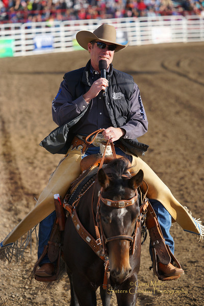 Announcer Wayne Brooks on Friday night at the 2014 Sisters Rodeo - Sisters, Oregon © 2014 Gary N. Miller, Sisters Country Photography