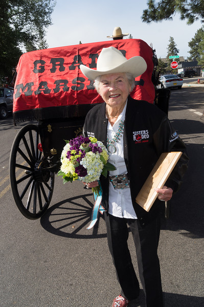 Dorro Sokol, Rodeo Grand Marshall - 2014 Sisters Rodeo Parade in Sisters, Oregon © 2014 Gary N. Miller, Sisters Country Photography
