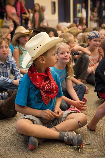 JJ Harrison & John Payne at Sisters Elementary School 2015