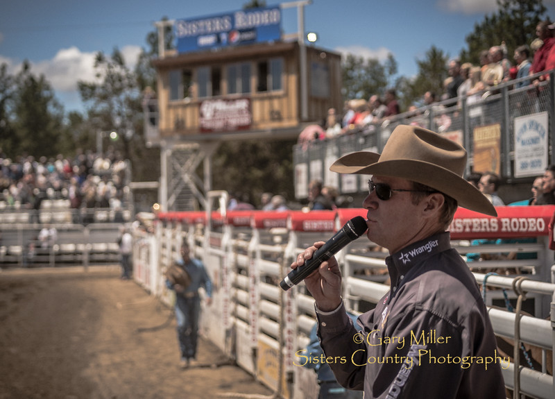 Wayne Brooks, Rodeo Announcer