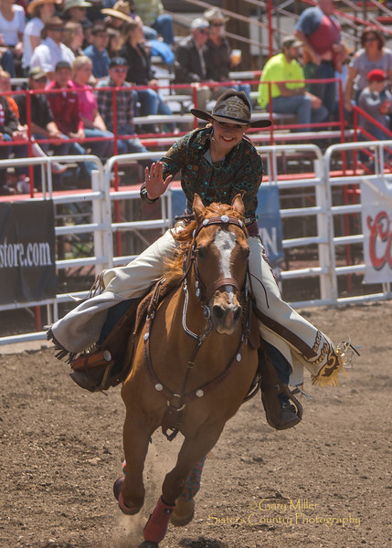 Rodeo Queens ride the arena on Saturday Afternoon at the 2016 Sisters Rodeo © Gary N. Miller, Sisters Country Photography