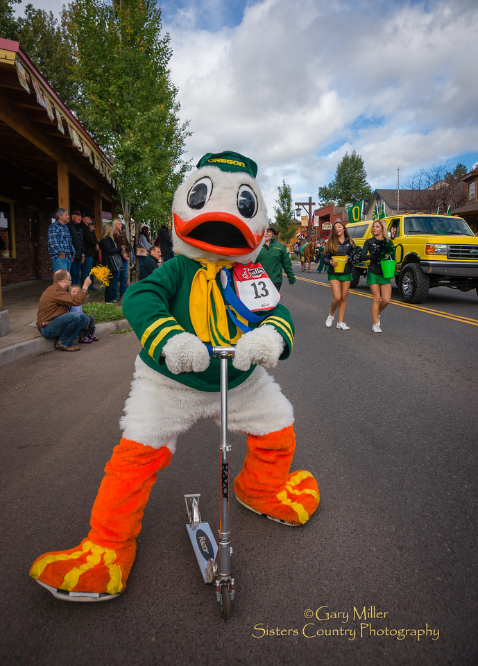 The Oregon Ducks contingent