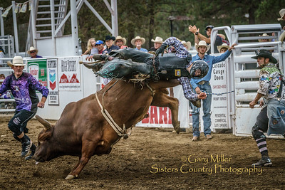 Tristan Mize rode to an 86 to tie for the winning ride.