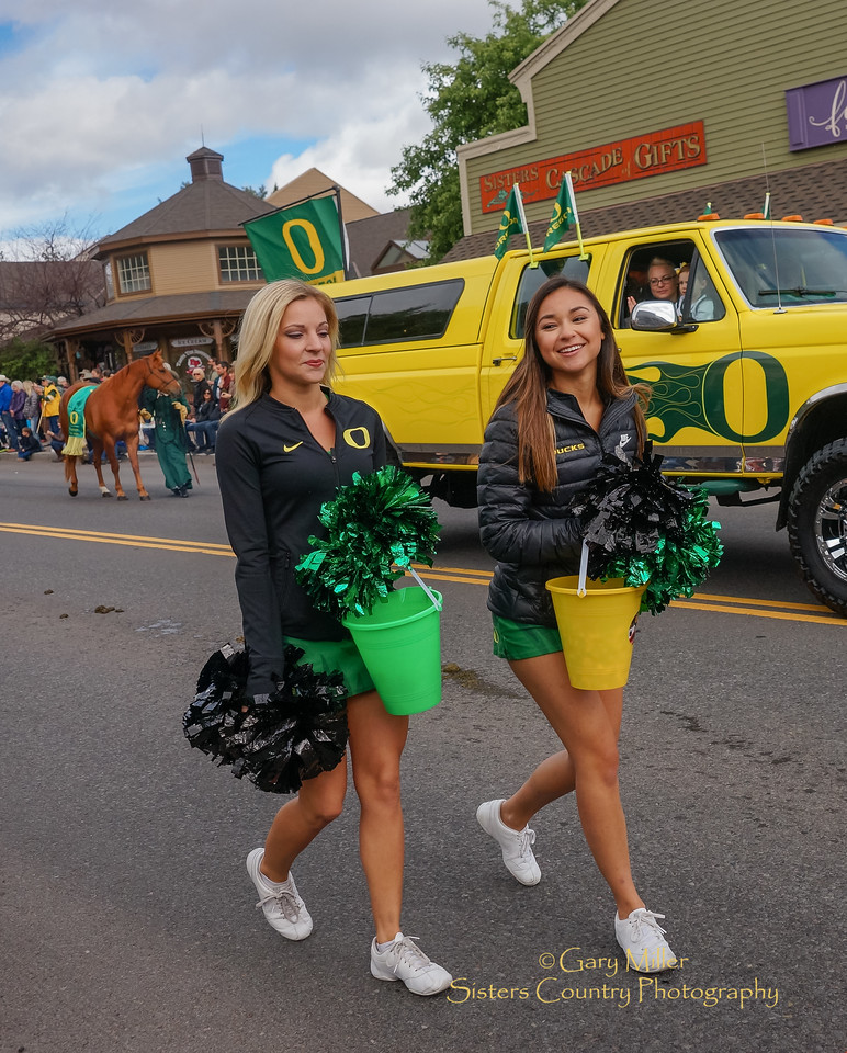 The Oregon Ducks contingent