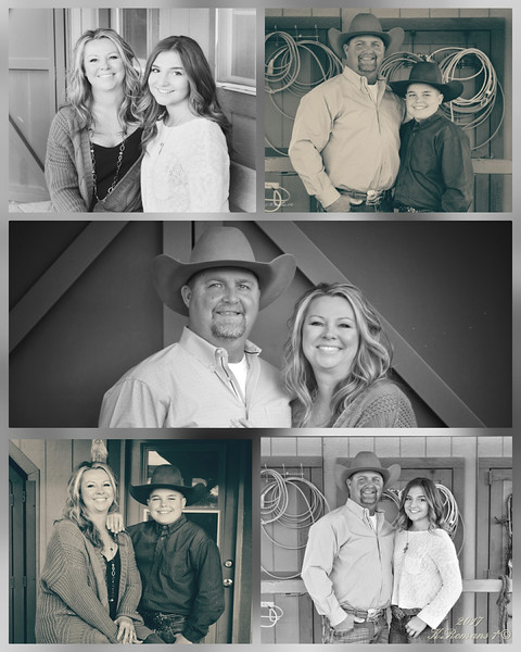 Rees Family Black n White Collage
