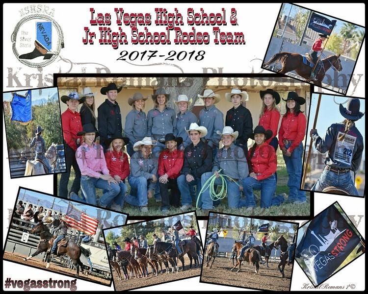 Las Vegas HS Rodeo Team Collage